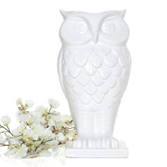 Bought this for my sister!! She loves owls and she always buys flowers. Idk if I should give it to her now or save it for Xmas. Z Gallerie - Owl Vase 13.5""