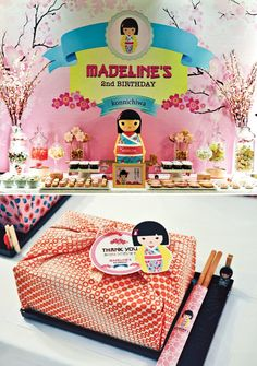 Konnichiwa! Gorgeous Cherry Blossom inspiration, playful Kimmidoll designs and tasty Pocky snacks are my favorite parts of this Cheerful Japanese