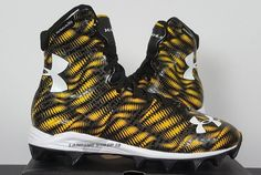 Under Armour Highlight RM JR. Football Cleats Black/Gold 1258034-071 (SIZE 6Y) #UnderArmour