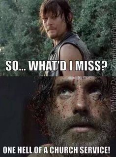 Amen Rick ! - Meme - Season 5 Episode 3 - Four Walls and a Roof - Fangirl - The Walking Dead