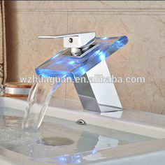 2016 New Fashion Style Led Waterfall Faucet 40ft Container, Waterfall Faucet, Packing Boxes, Chrome Plating, Basin, New Fashion, Bubbles, Led, Style