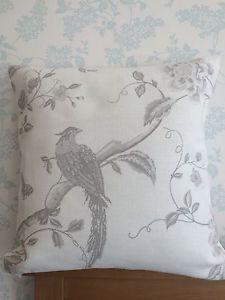 Laura Ashley Summer Palace Dove Grey Cushion Cover + Pad - 16 Inch - Handmade | eBay