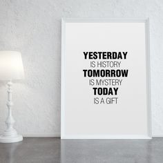 Poster ou Tela MDF - Today is a Gift