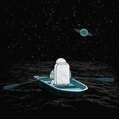 #space #sailor #vintage #art