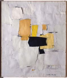 Esteban Vicente - Collage with Black and Yellow
