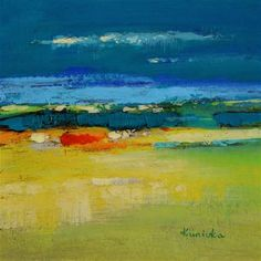 "Daily Paintworks - ""Landscape 195"" - Original Fine Art for Sale - © Ewa Kunicka"