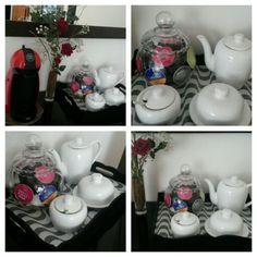 Meu cantinho. Bandeja princesinha do mar #DIY #cantinhodocafe #coffee&tea