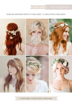 Itty Bitty Bijou: Wedding Inspirations - Floral Crowns