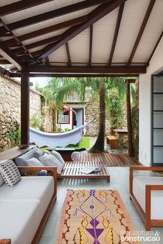 Home Decoration - Ideas Outdoor Rooms, Outdoor Living, Outdoor Decor, Indoor Outdoor, Interior And Exterior, Interior Design, Exterior Paint, Diy Garden Decor, My Dream Home