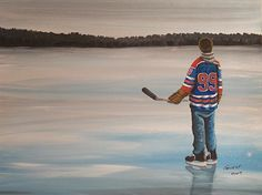 Billedresultat for paintings ice hockey