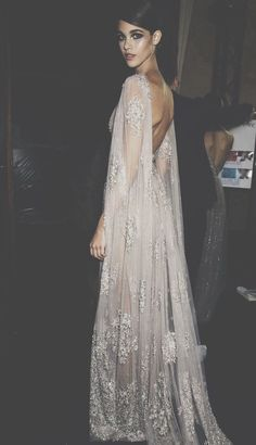 Elie Saab. The back! Draping is gorgeous.: