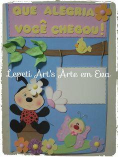 Painel sala de aula em eva tema joaninha <br> <br>Pode ser feito em qualquer tema.