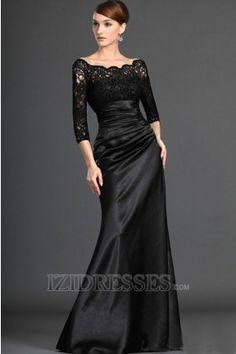 A-Line Off-the-shoulder Elastic Woven Satin Mother Of The Bride Dresses - IZIDRESSES.COM at IZIDRESSES.com