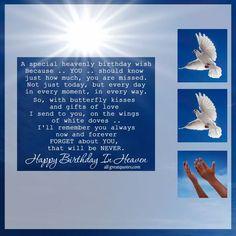 A special heavenly birthday wish 50th Birthday Poems, Facebook Birthday Cards, Birthday Wishes Greeting Cards, Free Happy Birthday Cards, Happy Birthday Husband, Happy 50th Birthday, Birthday Messages, Birthday Quotes, Birthday Wishes In Heaven