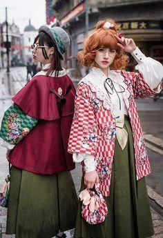 Harajuku Fashion, Lolita Fashion, Japanese Fashion, Asian Fashion, Modern Kimono, Poses References, Cool Outfits, Fashion Outfits, Character Outfits