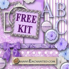 Free Purple Fluff Digi Scrapbook Kit ♥♥