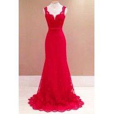 trendsgal.com - Trendsgal Solid Color Backless Lace Maxi Dress - AdoreWe.com