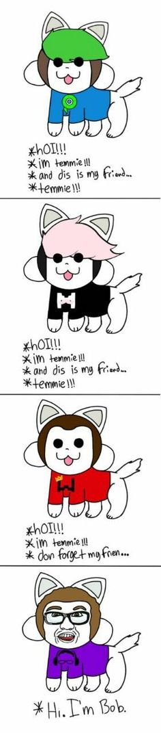 Undertale: Jack, Mark, Wade, and Bob as temmies.. Soo kawaii!!!!