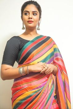Beautiful Indian Women in Saree- Hottest Photo Gallery! Beautiful Girl Indian, Most Beautiful Indian Actress, Beautiful Girl Image, Beautiful Saree, Beautiful Heroine, Beautiful Women, Beauty Full Girl, Beauty Women, Black Saree