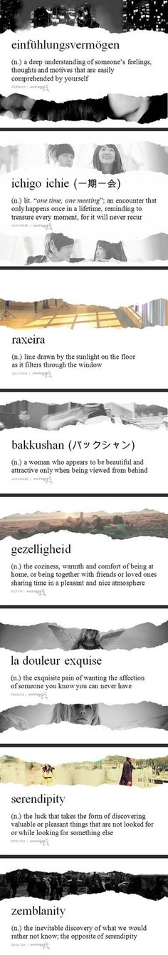 Very unusual words and their meaning.