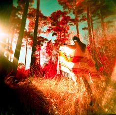 Wandering the #forest through sunrays of magic.  Beautiful photography.  http://www.lomography.com