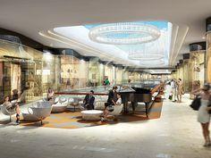 Koruflorya benoy m & m architecture (markets & malls) mall design, shopping Mall Design, Retail Design, House Design, Shopping Mall Interior, Retail Interior, Commercial Design, Commercial Interiors, Shoping Mall, Design Art Nouveau