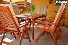 Kerti bútor garnitúra magastámlás székekkel-Akcíós - Halásztelek, Pest