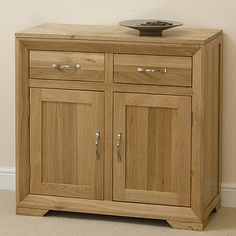 Bevel Solid Oak Small Sideboard BEVEL series
