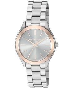 bce7547b8e1 Michael Kors Mini Slim Runway Quartz MK3514 Women s Watch Gold Watches  Women