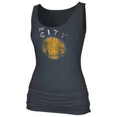 134179a96007 Golden State Warriors  Golden State Warriors Dissolved Logo Banded  Tank-Grey Warrior Spirit