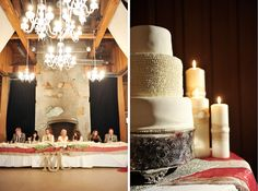 Rehearsal Hall Fireplace with Head Table. @Rebekah Westover  Rebekah Westover Photography
