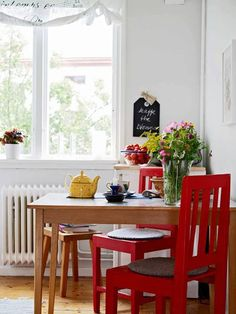 Red Kitchen Chairs Corner Cabinet Shelf 39 Best Or Do I Want Images Dining Eating Areas Nook