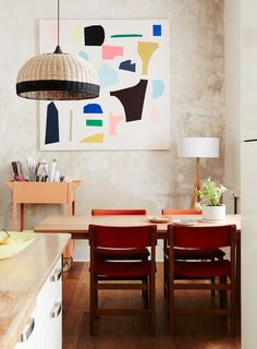 Colorful art dining