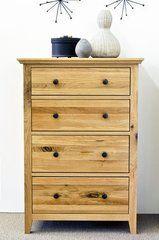 HEREFORD RUSTIC Oak 4 Drawer Medium Chest Of Drawers