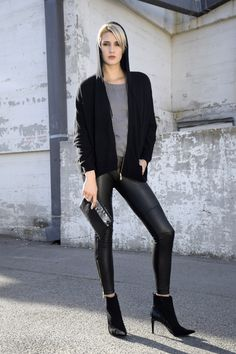 """AS by DF's best selling Kiki Leather Leggings were featured in OC Style's feature entitled """"Winter's Edgiest Texture: Leather."""""""