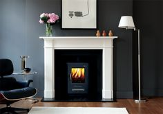 Devonshire Fireplace. Classic but contemporary. NOT THIS LOG BURNER THOUGH.