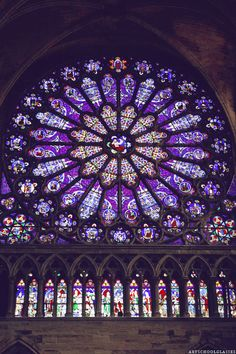 "artschoolglasses: "" The rose window inside Saint Denis Paris, France """