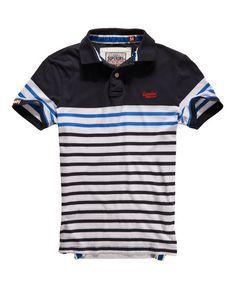Superdry Drop Breton Stripe Polo - Men's Polo Shirts