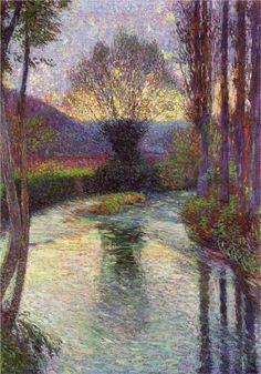 """Henri Martin -    """"Reflected Willow on the Green"""", 1915"""
