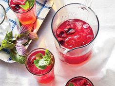 Instead of the fluorescent cocktail-cherry garnish, fresh cherries take center stage in this refreshing lemon-and-vodka sipper. Macerating the cherries in sugar helps to soften their thick skins and release their juices, which become gorgeously syrupy in the pan.View Recipe: Cherry-Basil Lemonade Spritzers