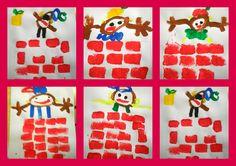 Schilderopdracht: zwarte piet komt uit de schoorsteen + Schoorsteen stempelen met spons School 2017, School Fun, Saint Nicolas, Art For Kids, Projects To Try, December, Workshop, Kids Rugs, Teaching