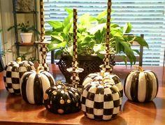 Mackenzie-Childs inspired pumpkins