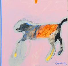 Rick Bartow / FB Dog 2 , 2012  acrylic on panel   12 x 12 in