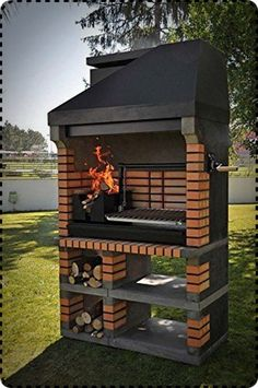 Callow Pan American Brick Masonry BBQ Grill - The Ultimate in Wood fired BBQ Grilling Barbecue Design, Grill Design, Barbecue Grill, Grilling, Outdoor Barbeque, Masonry Bbq, Brick Masonry, Parrilla Exterior, Brick Grill