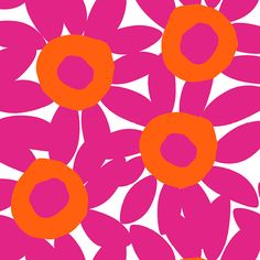 The pink/orange flower print is part of the Mixed Bag Designs collection of reusable bags and totes