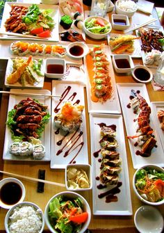 This is my kind of Party;-) SUSHI!!!
