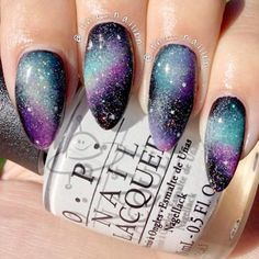 Ideas of Galaxy Nails You Need to Copy Immediately ★ See more: http://glaminati.com/ideas-galaxy-nails/