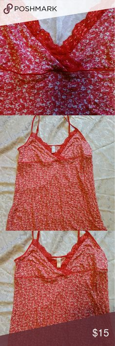 Old Navy Night Gown Beautiful Old Navy night gown. Size Large. Very soft and beautiful red and pink colors. It falls just above the knee. Only tried on, but never worn. NWOT. The straps are adjustable. Just adorable! Old Navy Intimates & Sleepwear Chemises & Slips