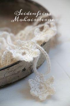 Crochet Motif, Crochet Patterns, Drops Kid Silk, Vintage Christmas, Snowflakes, Diy And Crafts, Winter, Nature, Ideas