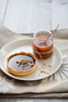 Macadamia, Chocolate and Milk Jam Tarts by tartelette, via Flickr